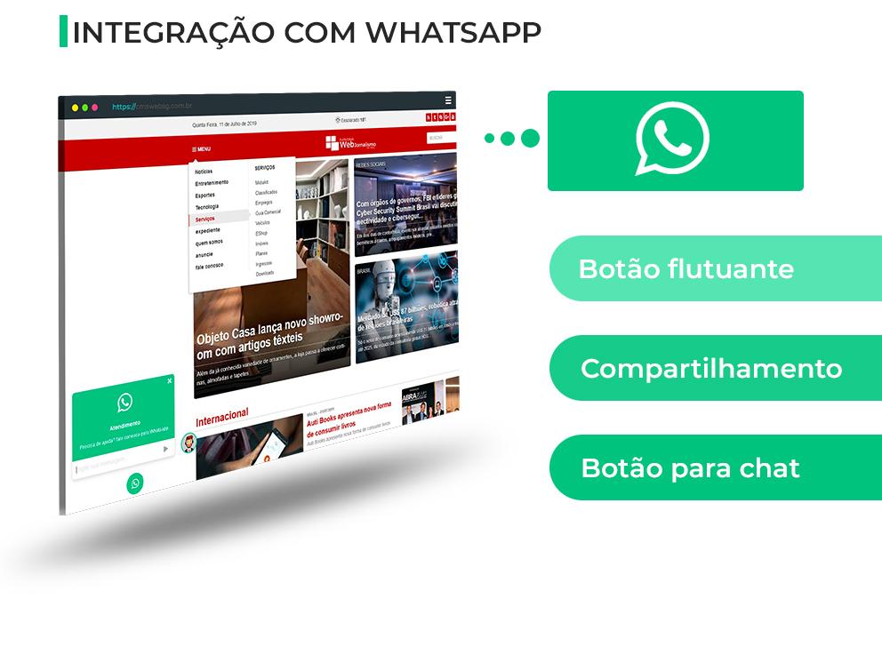 Web Jornalismo - Integração com Whatsapp