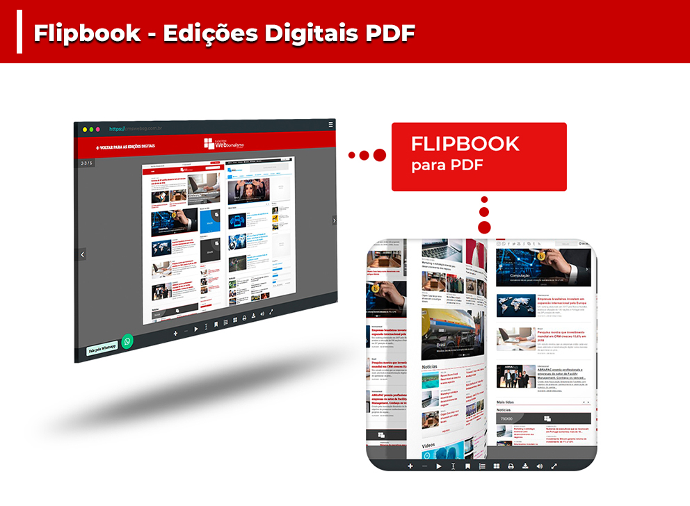 FlipBook para Edições Digitais disponível no Web Jornalismo