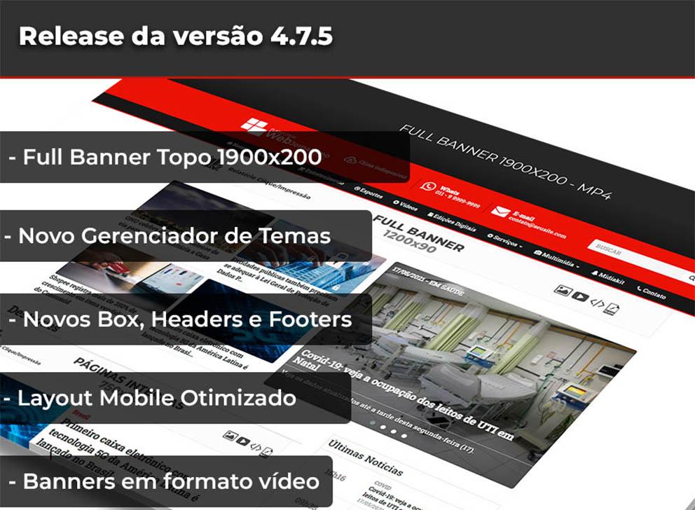 Release da versão 4.7.5 Web Jornalismo