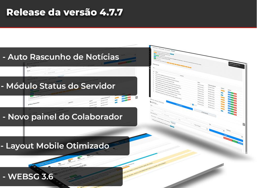 Release da versão 4.7.7 Web Jornalismo