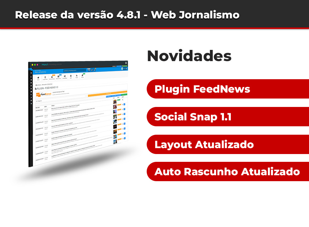 Release da versão 4.8.1 Web Jornalismo