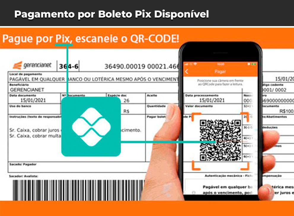 Pagamento por boleto pix disponível na WebMedia