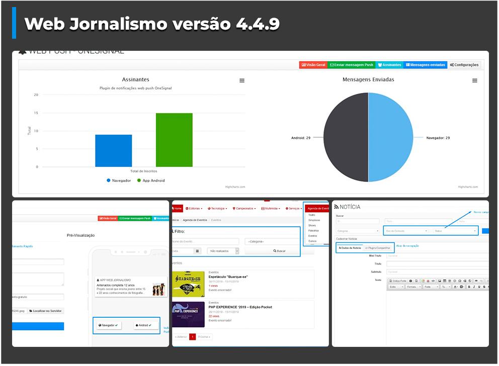 Confira as novidades da Versão 4.4.9 da plataforma Web Jornalismo
