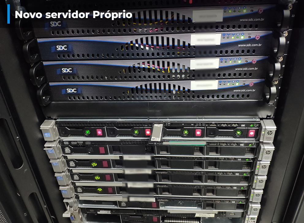 Visita ao Data Center e instalação do Servidor Próprio
